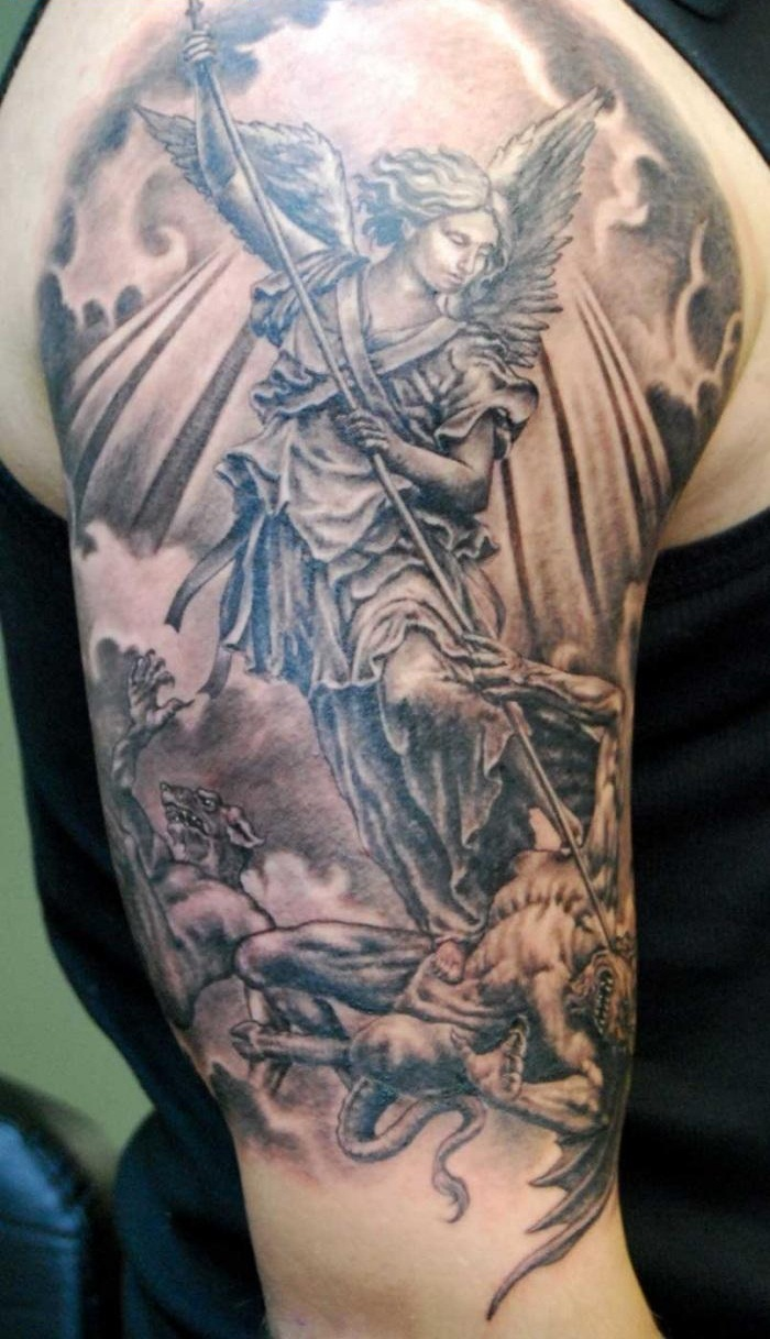 Angel tattoos designs ideas and meaning tattoos for you for Washing a new tattoo