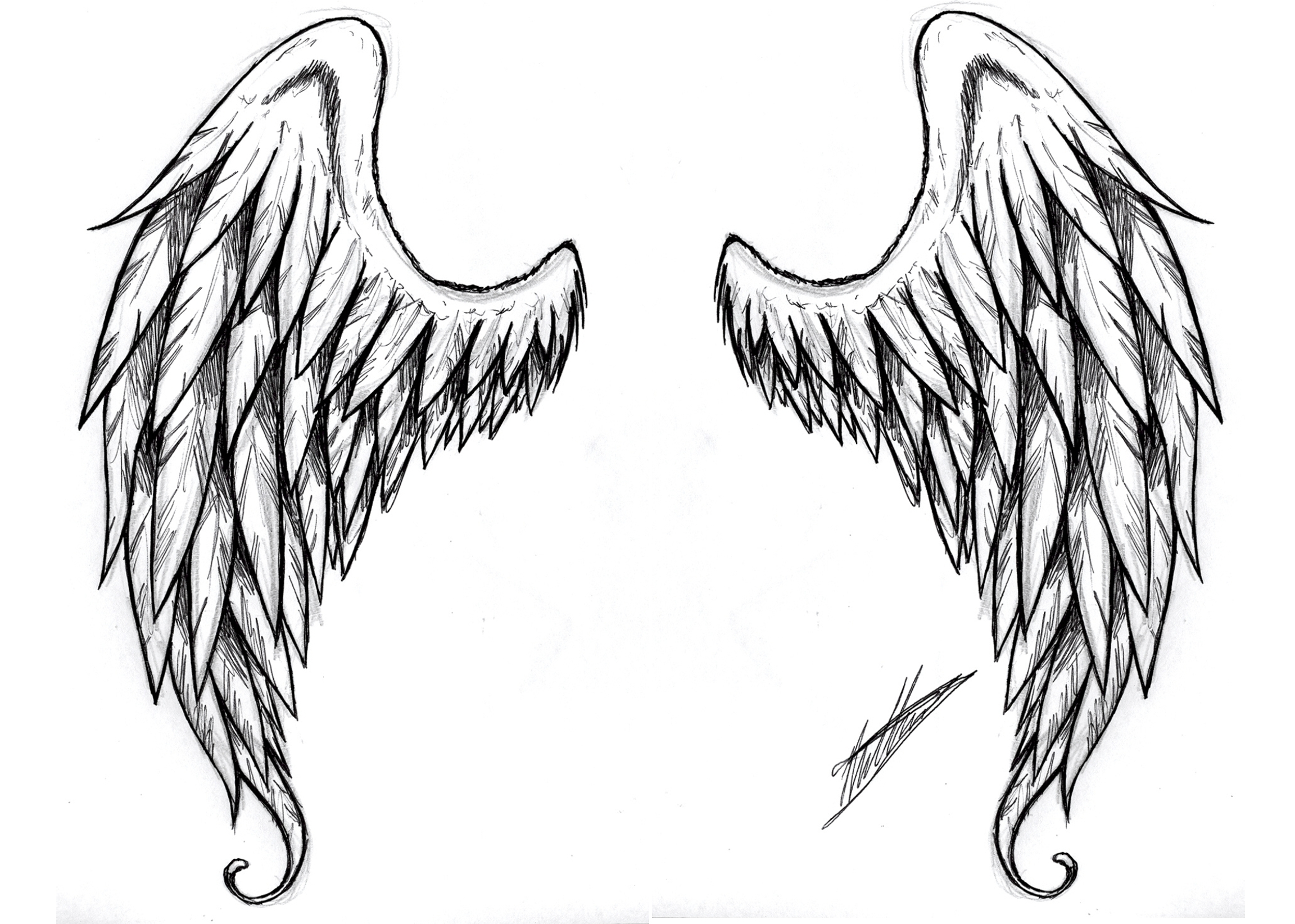free angel wings coloring pages - photo#31