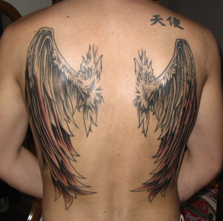 angel wing tattoos designs ideas and meaning tattoos for you. Black Bedroom Furniture Sets. Home Design Ideas