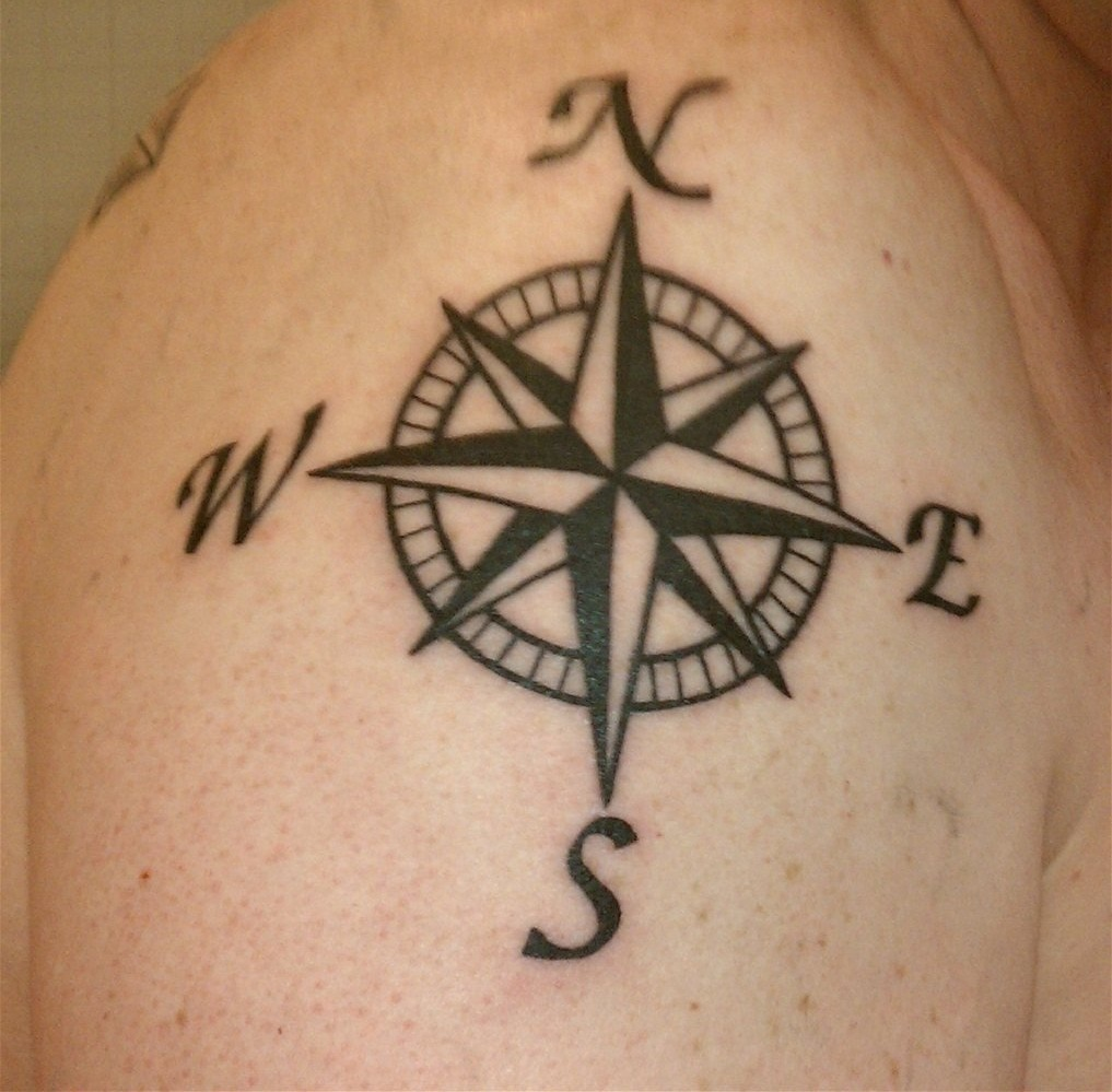 Compass tattoos designs ideas and meaning tattoos for you for Tattoo ideas and meanings