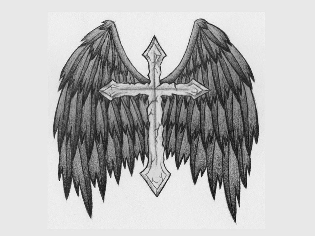 Cross With Angel Wings Tattoo: Angel Tattoos Designs, Ideas And Meaning