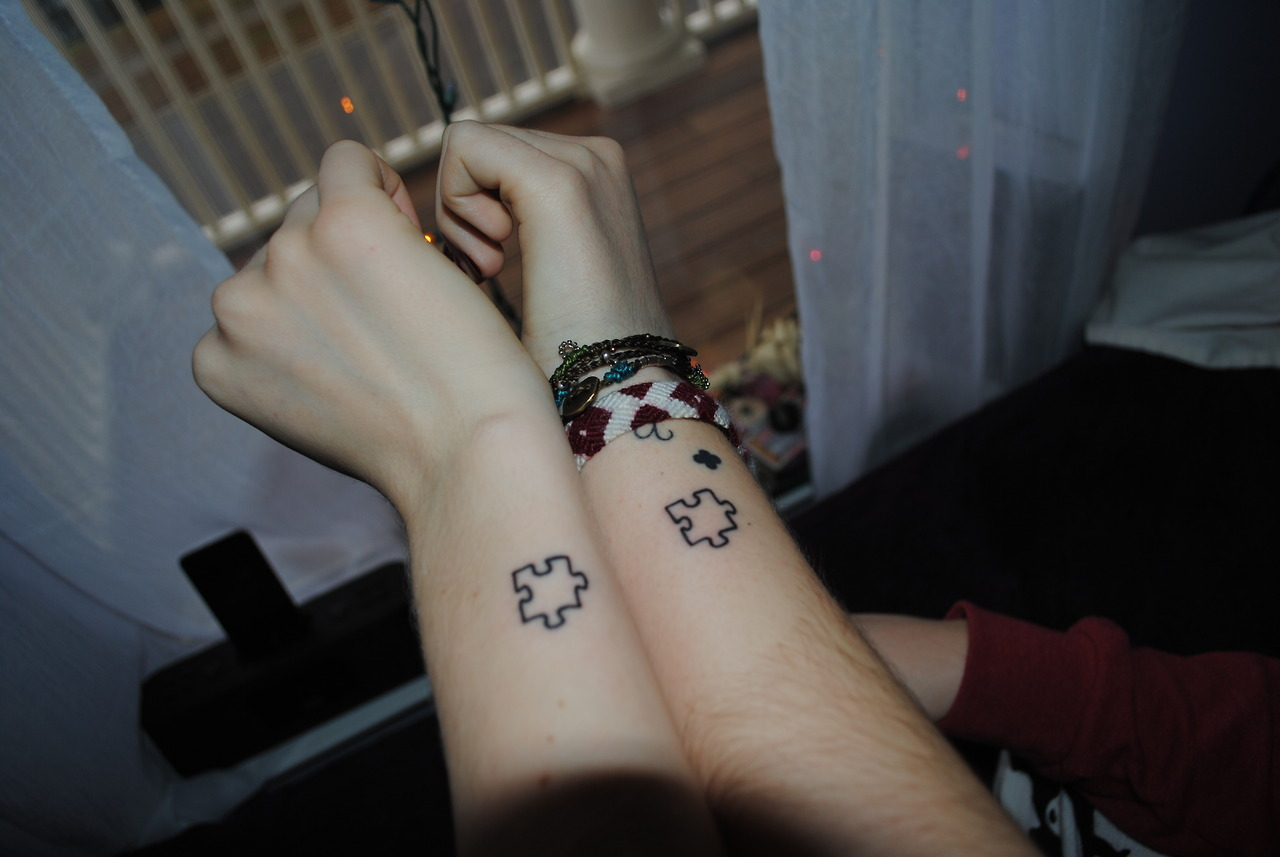 Displaying 12gt Images For Cute Couple Tattoos