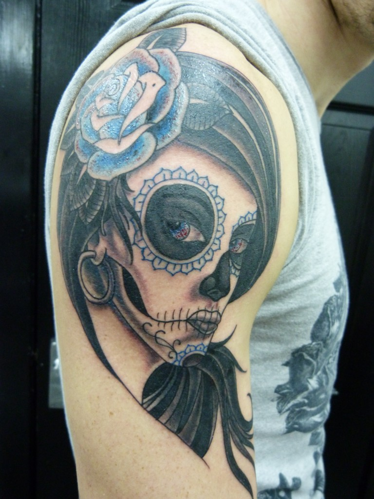 Day of The Dead Skulls Tattoos