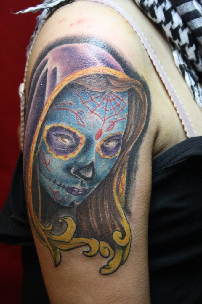 Day of The Dead Sleeve Tattoos
