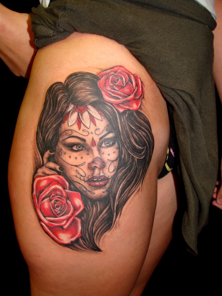 Day of The Dead Woman Tattoos