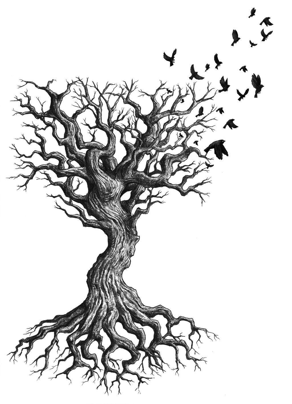 Tree tattoos designs ideas and meaning tattoos for you for Death tree tattoo