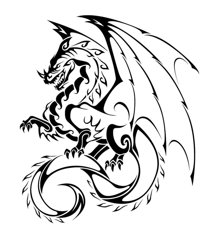 dragon tattoos designs ideas and meaning tattoos for you. Black Bedroom Furniture Sets. Home Design Ideas