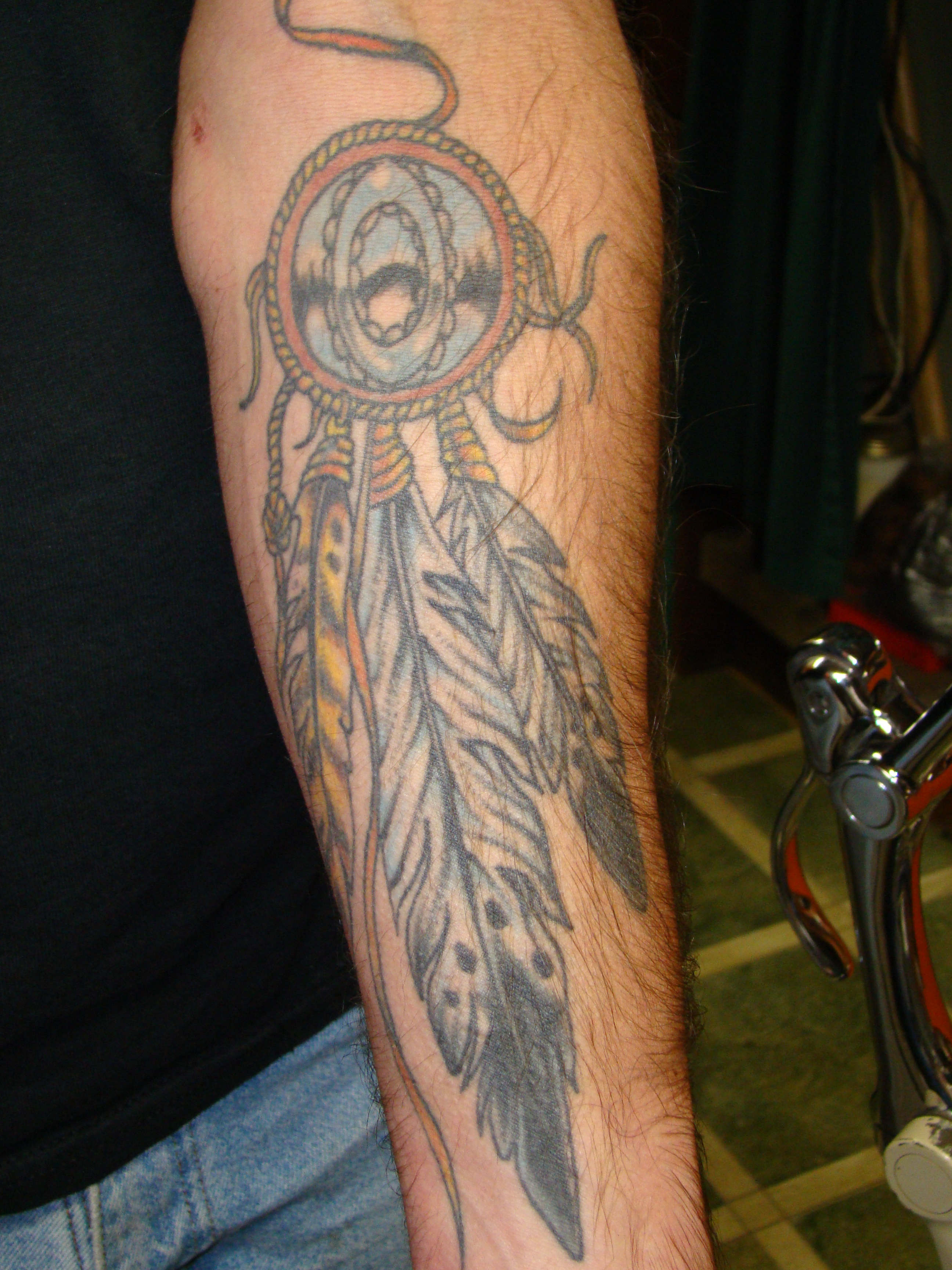 Dreamcatcher tattoos designs ideas and meaning tattoos for Male dreamcatcher tattoo