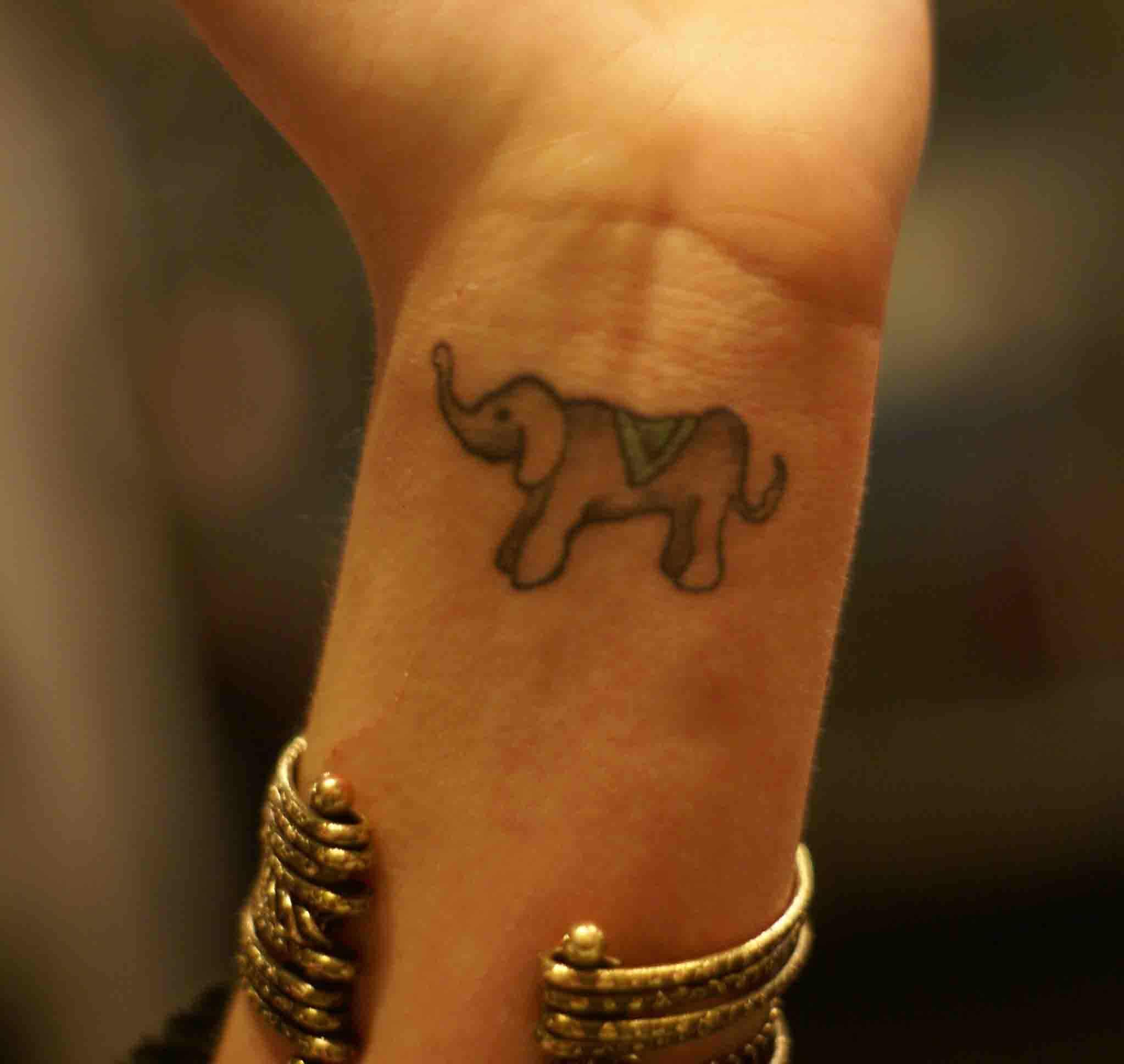 Good Luck Elephant Tattoo