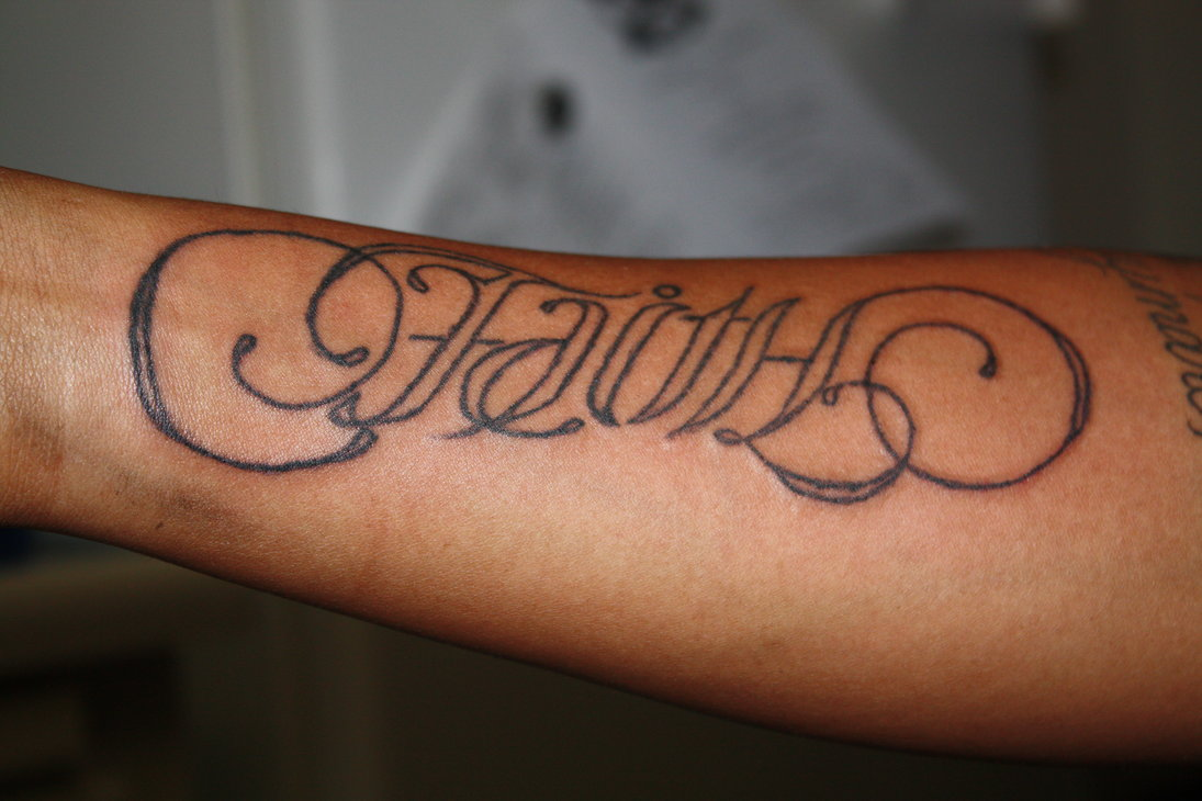 Faith Tattoo On Wrist