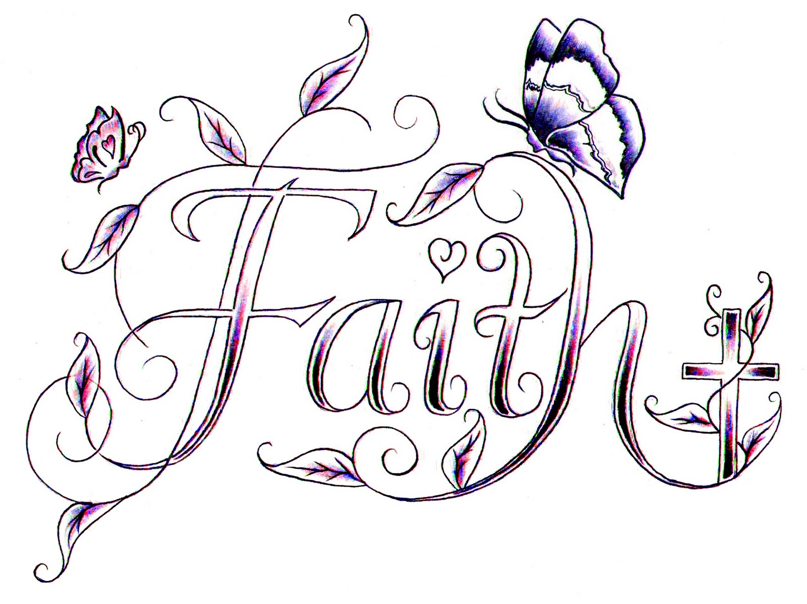 Walk By Faith Coloring Page
