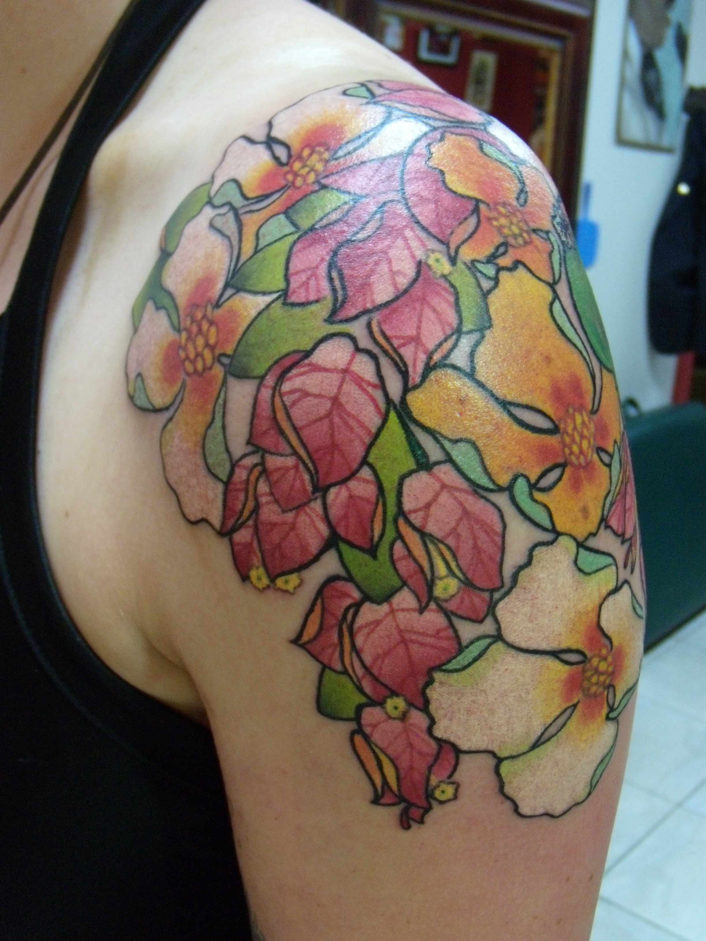 Flower Shoulder Tattoo Designs: Flower Tattoos Designs, Ideas And Meaning