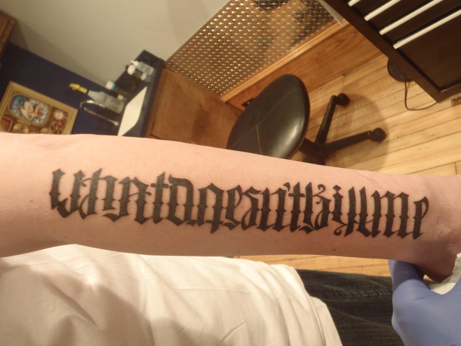 Free ambigram tattoo designs generator