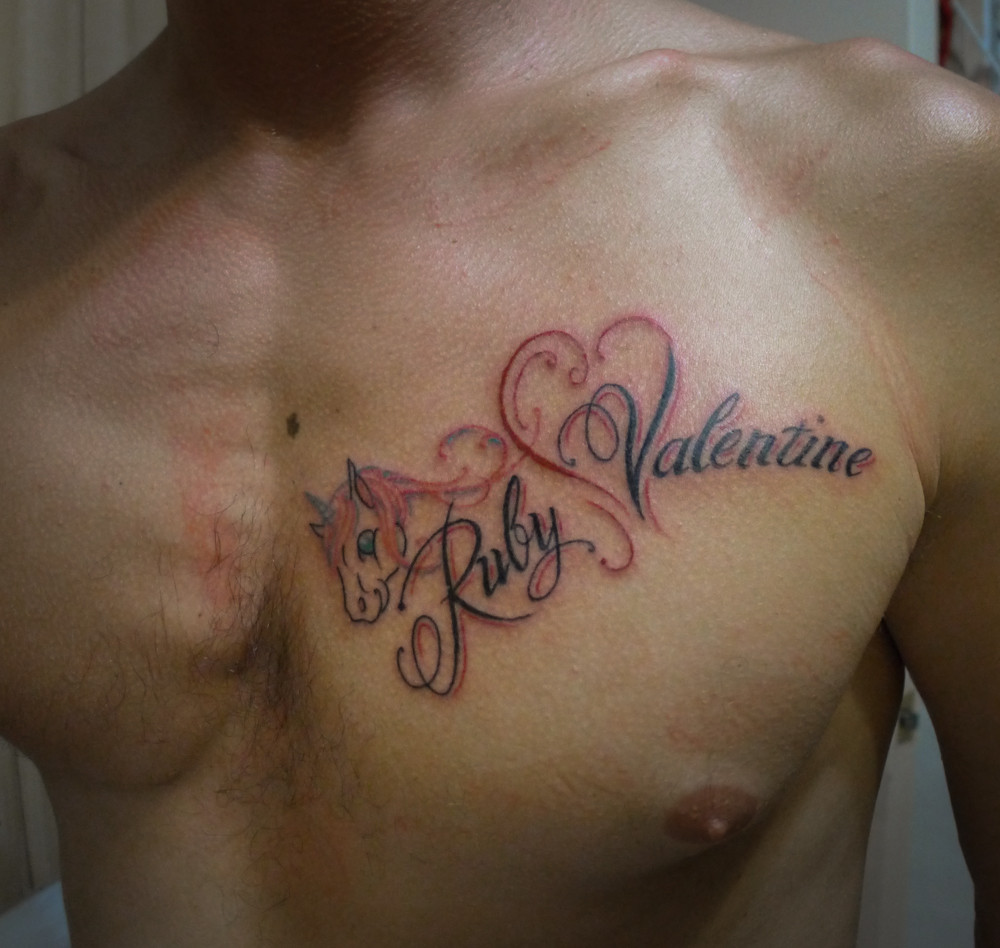 Heart Name Tattoos