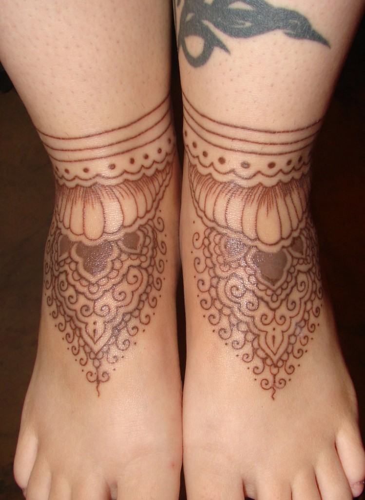 Henna Foot Tattoo
