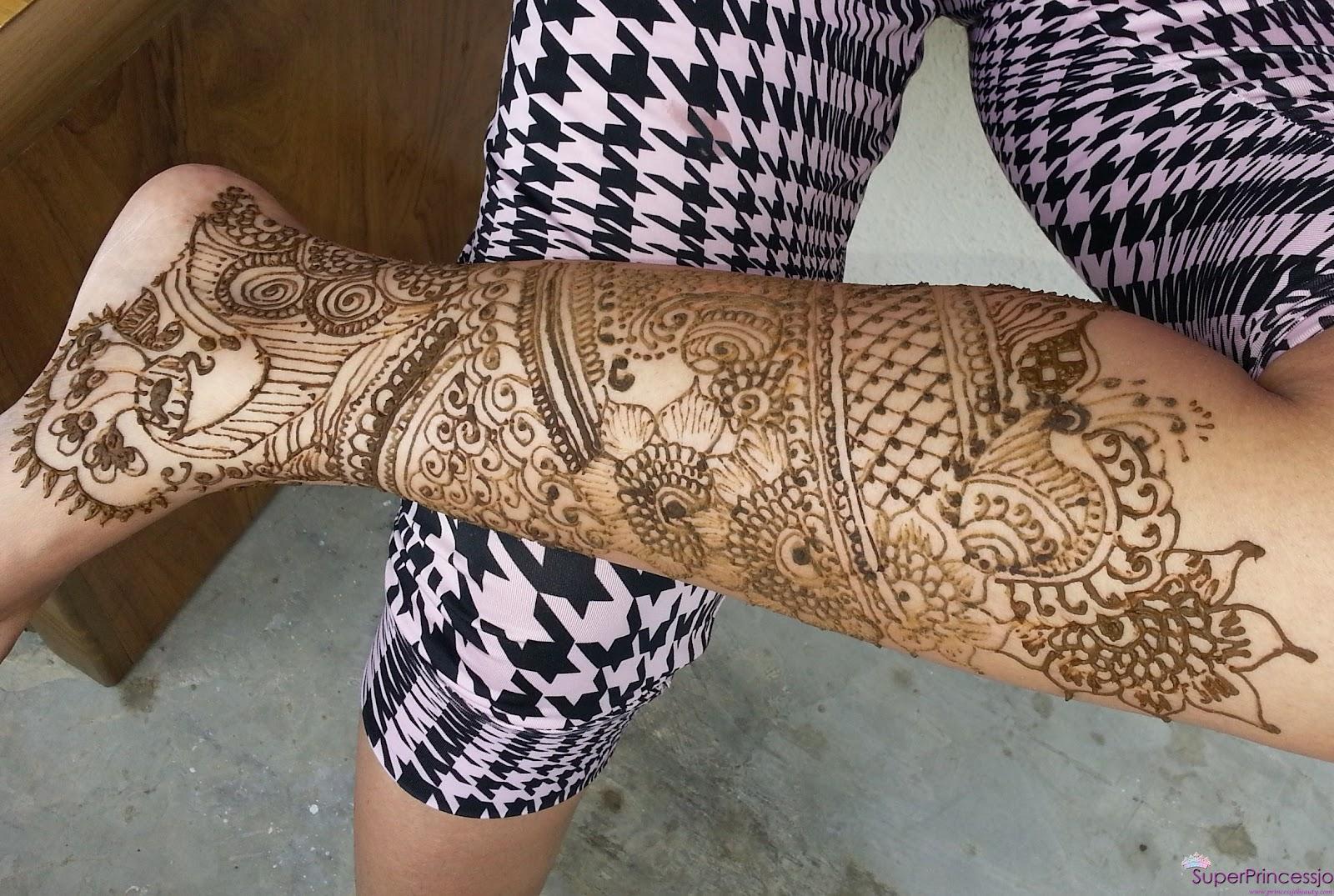 Mehndi Tattoo Designs For Legs : Henna tattoo leg designs makedes
