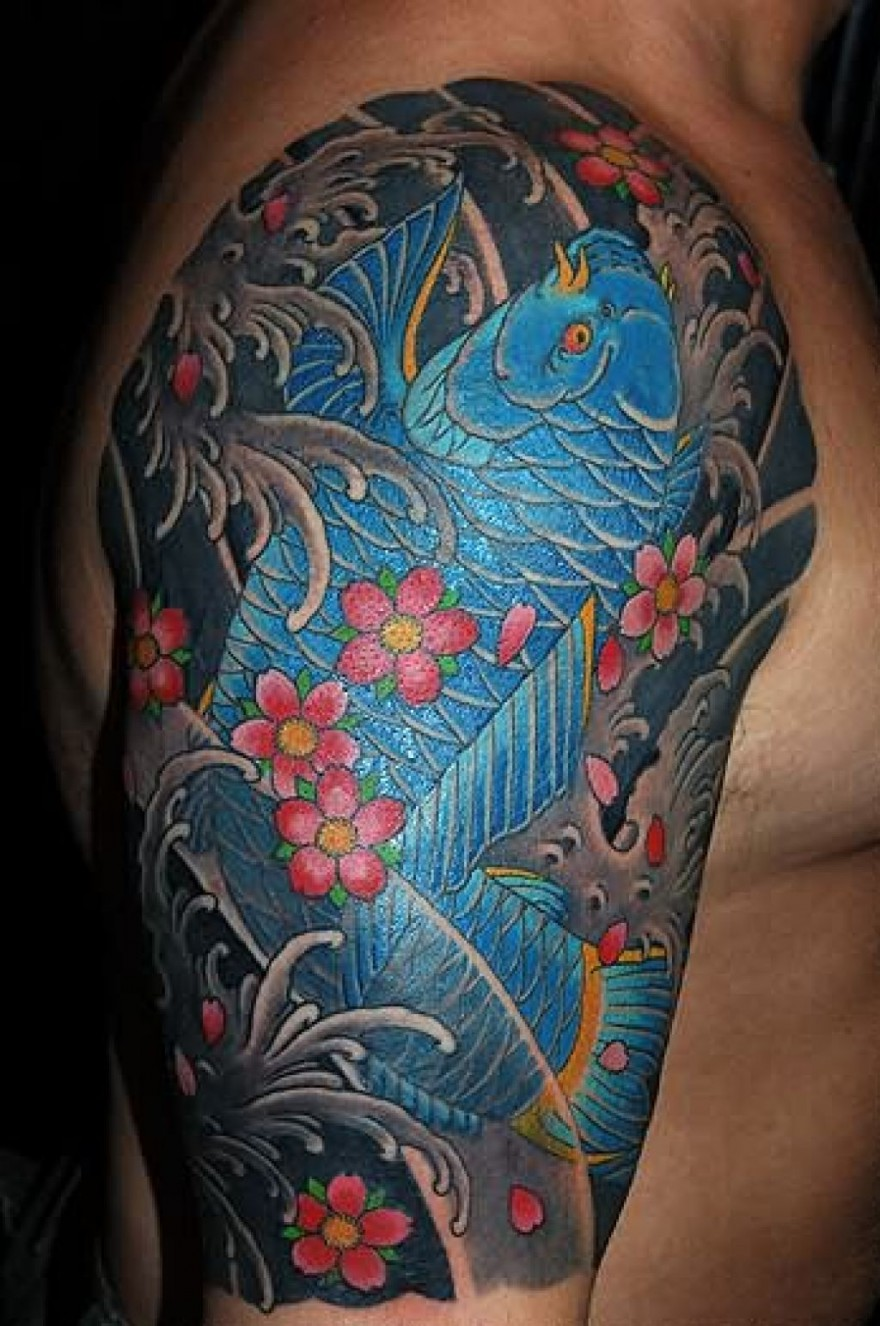 japanese tattoos designs ideas and meaning tattoos for you ForJapanese Coy Fish Tattoo