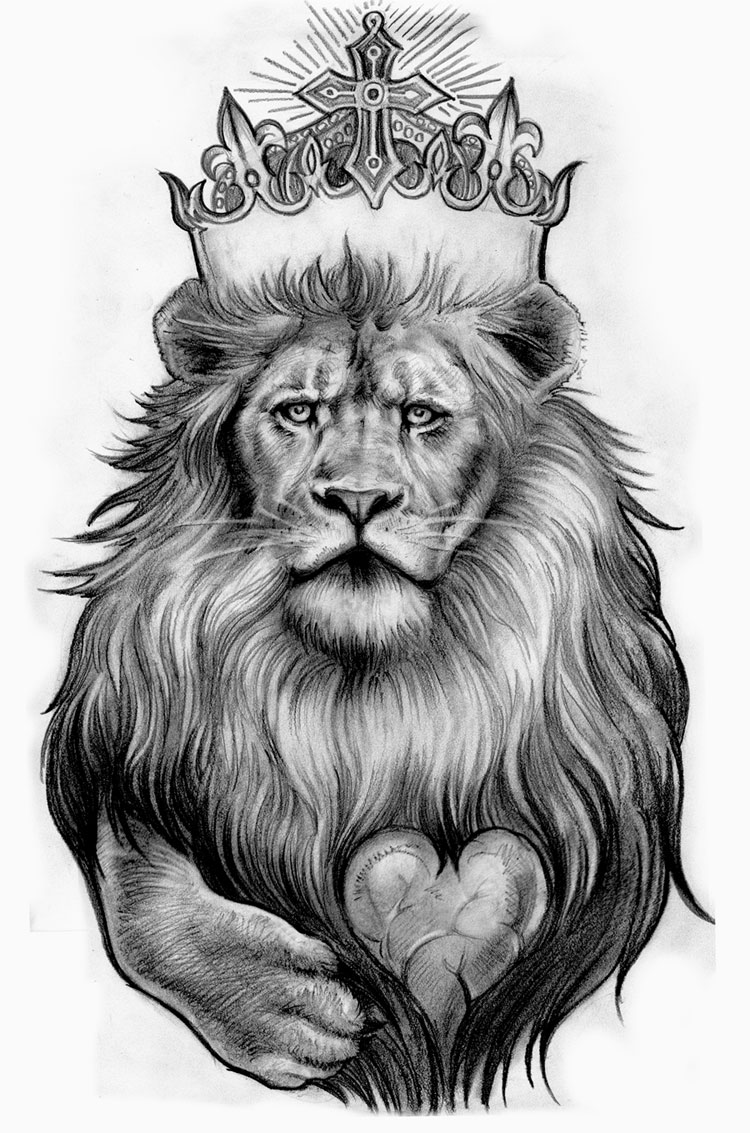 Lion king with crown - photo#6