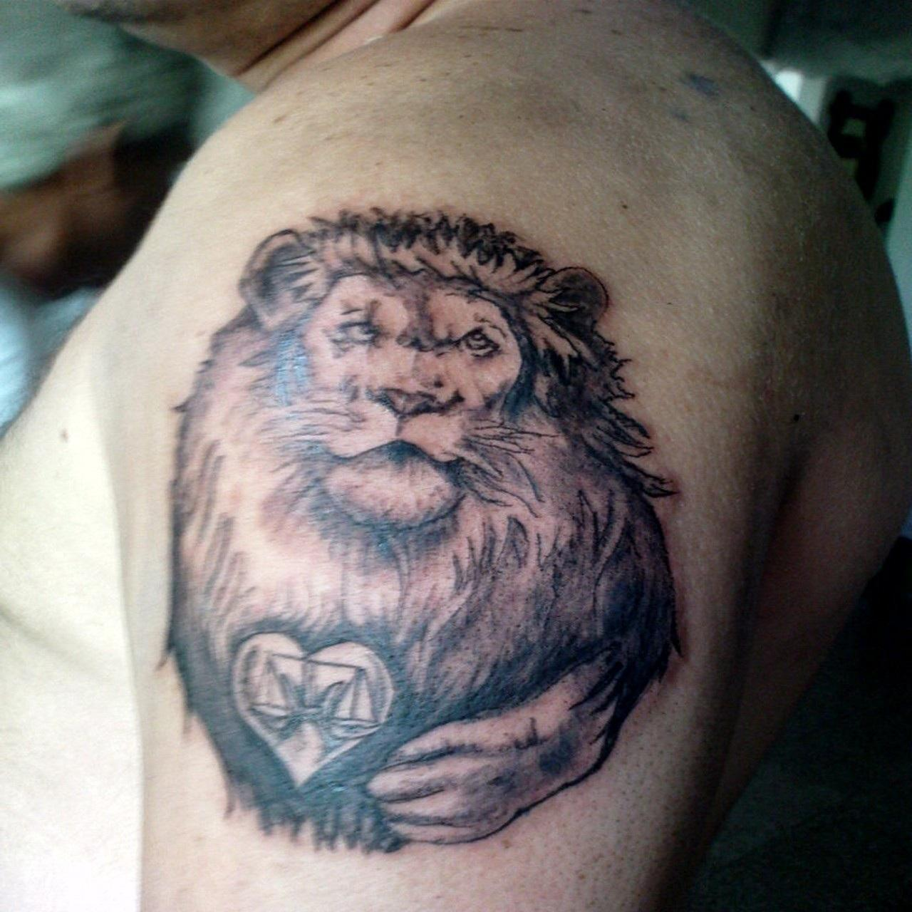 Lion tattoos designs ideas and meaning tattoos for you for Leo shoulder tattoos