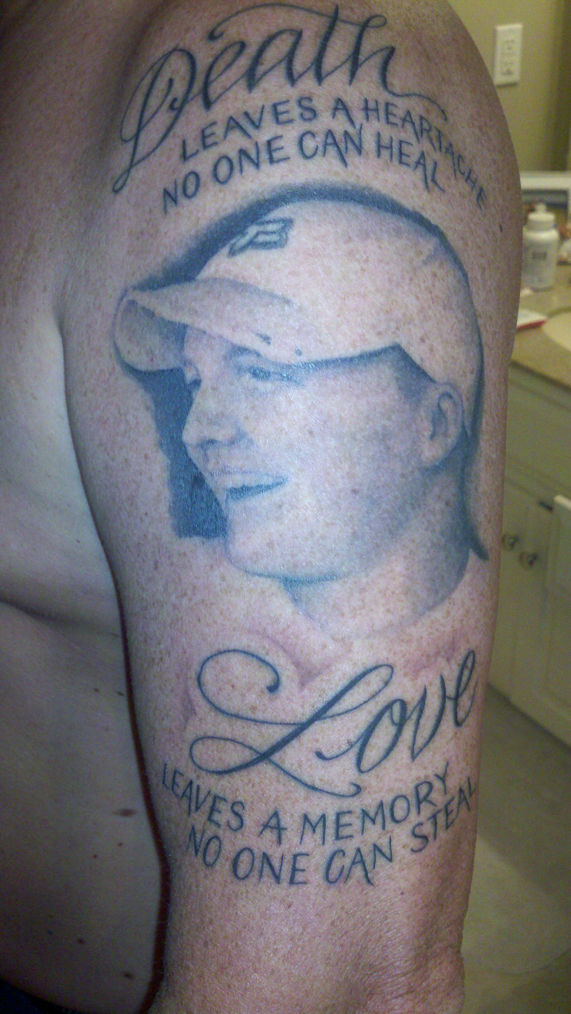 Memorial tattoos designs ideas and meaning tattoos for you for Father son memorial tattoos