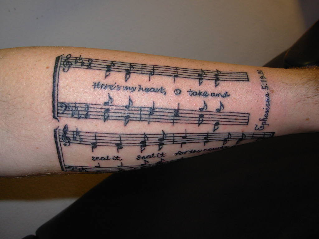 Music Tattoos Designs, Ideas And Meaning