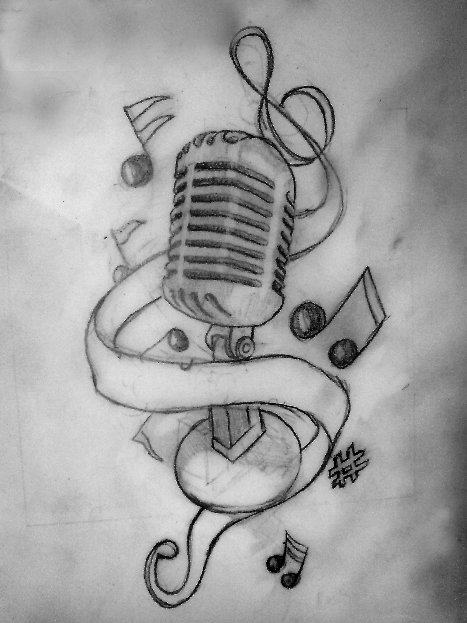 Music tattoos designs ideas and meaning tattoos for you for Drawing design ideas