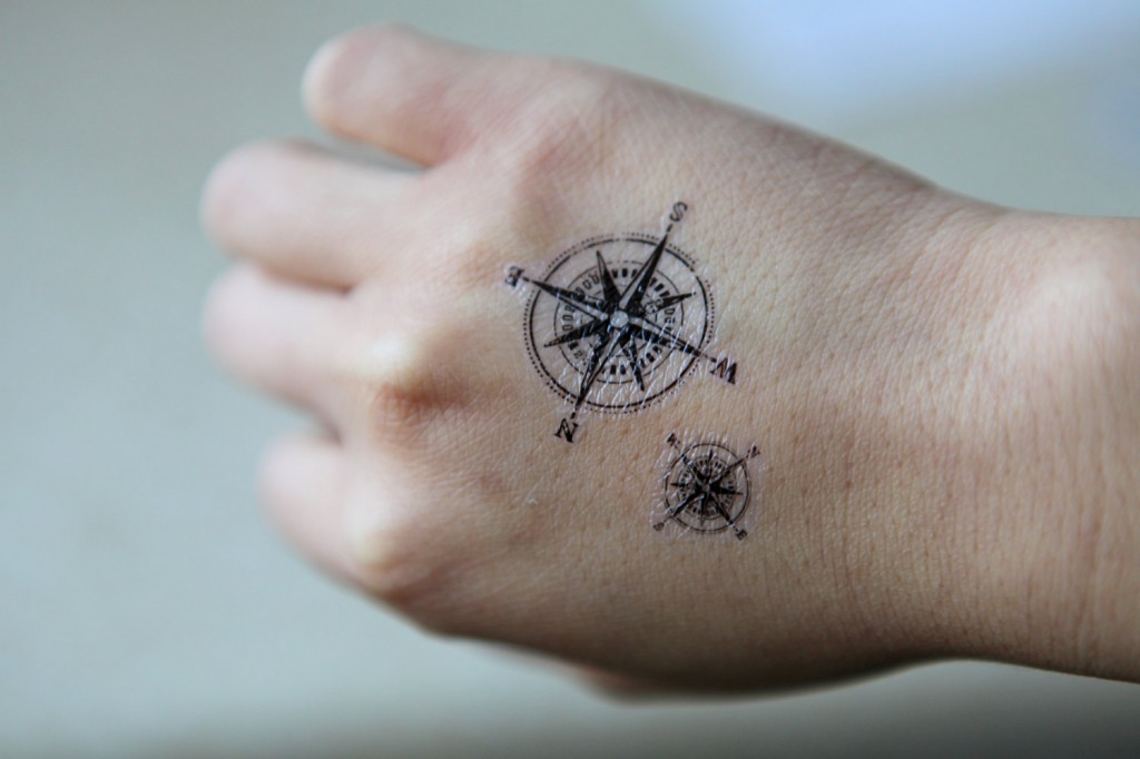 Small Compass Rose Tattoo