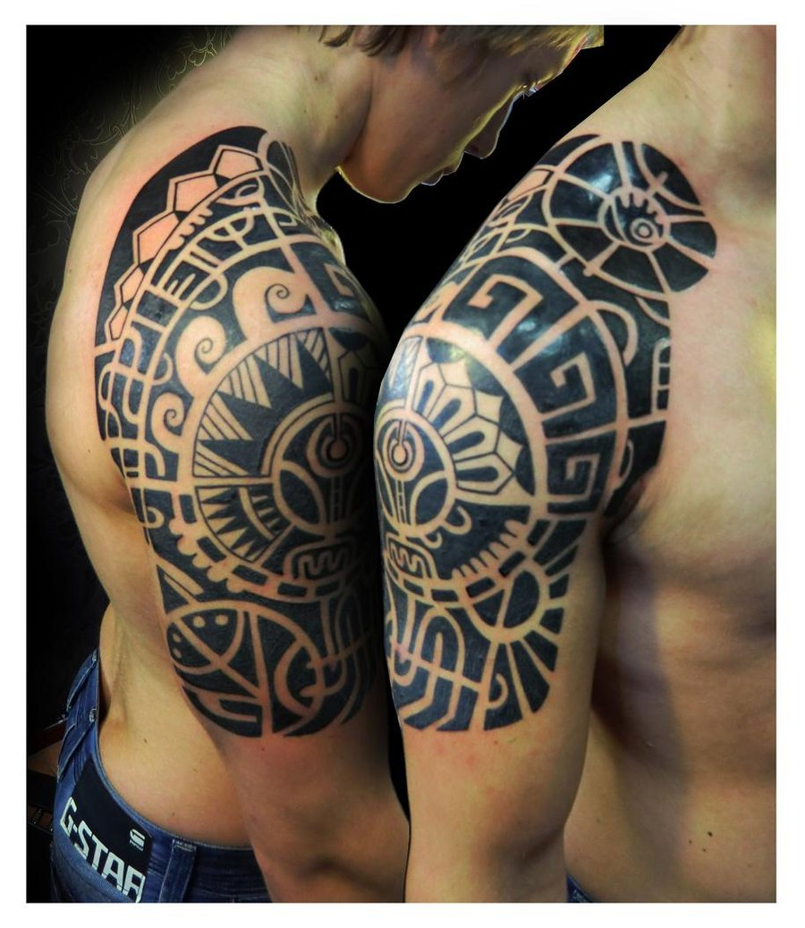 Agree, very Polynesian shoulder tattoos for men