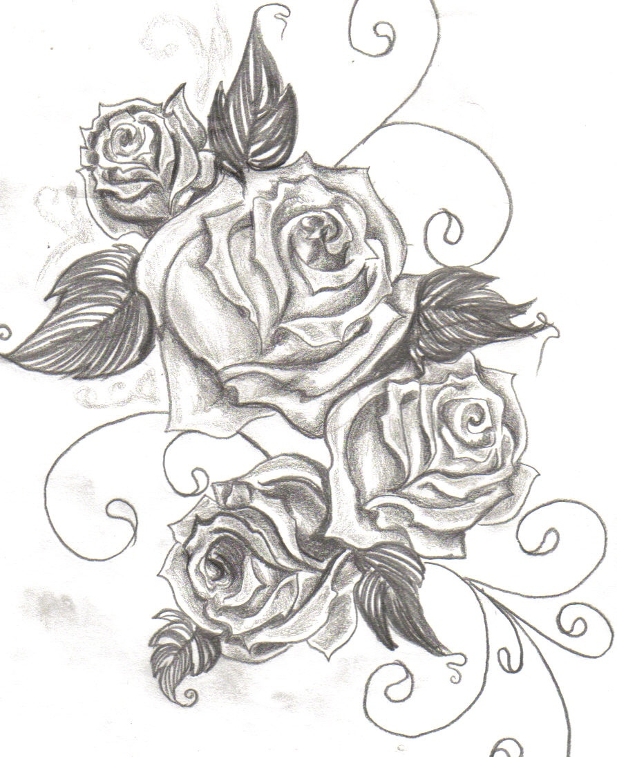 Rose tattoos designs ideas and meaning tattoos for you for Drawing design ideas
