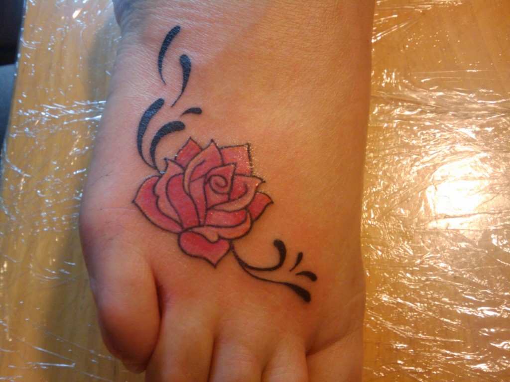 Rose tattoos designs ideas and meaning tattoos for you - Small foot design ...