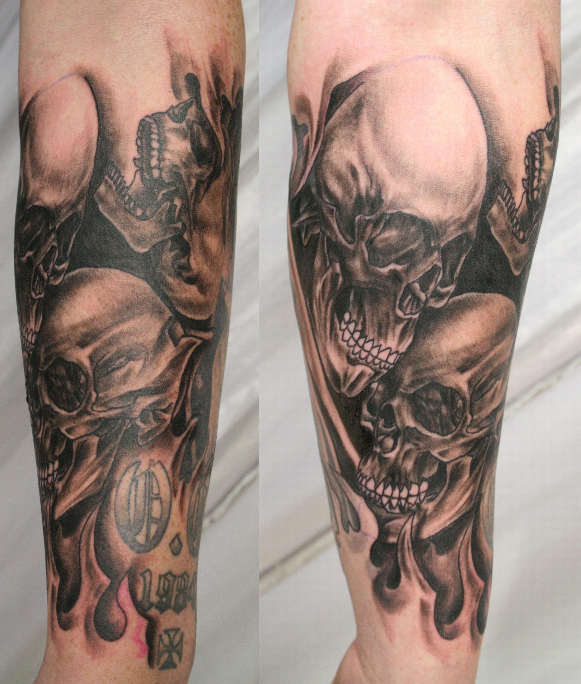 Skull tattoos designs ideas and meaning tattoos for you for Forearm tattoo sleeves