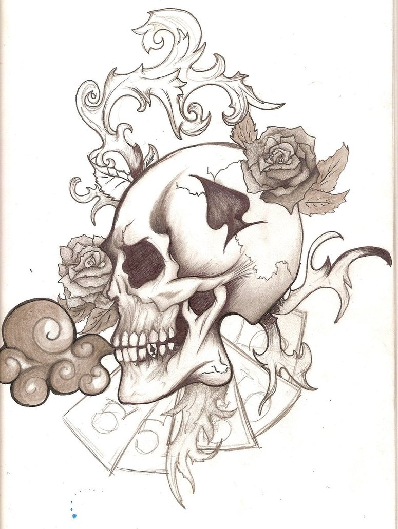 Skull tattoos designs ideas and meaning tattoos for you for Drawing design ideas