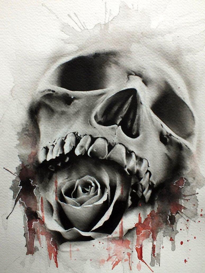Black Roses And Skulls