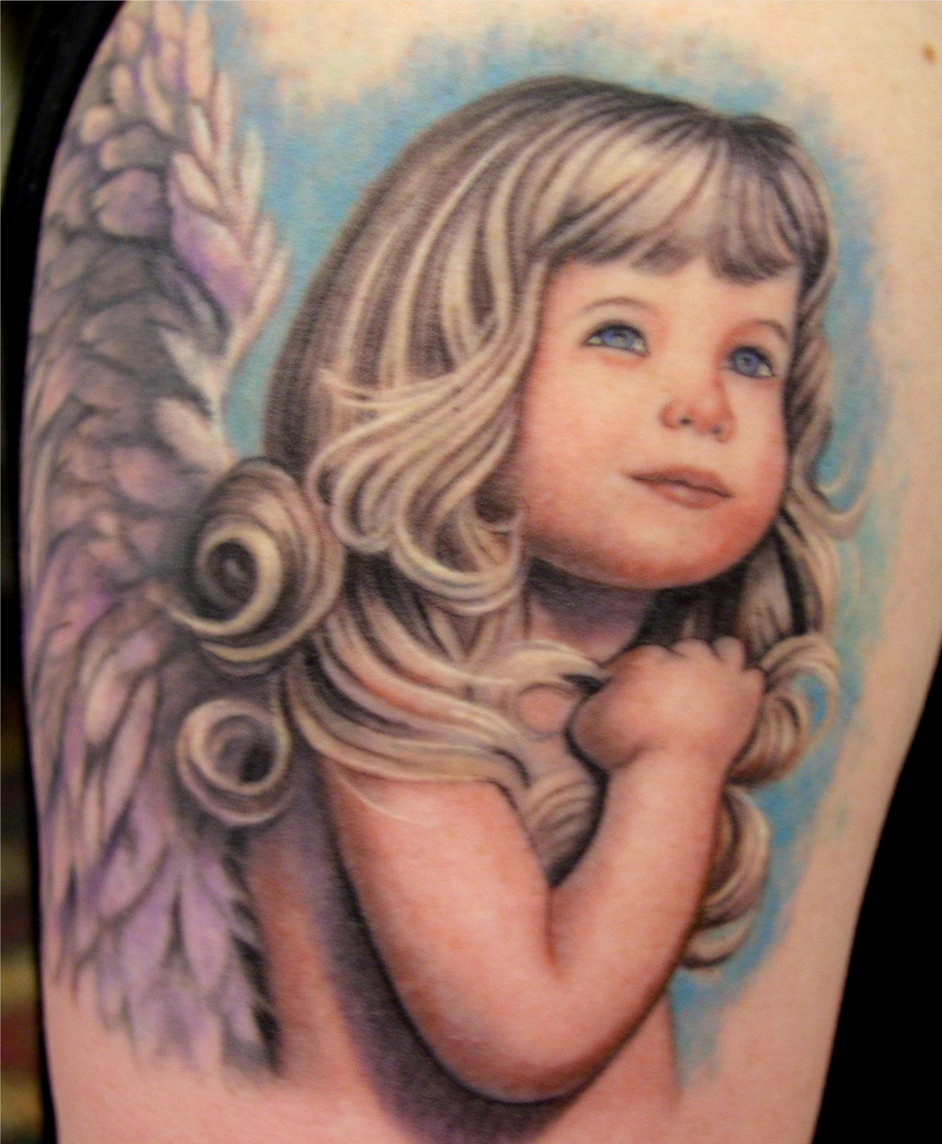 angel tattoo for girls - photo #31