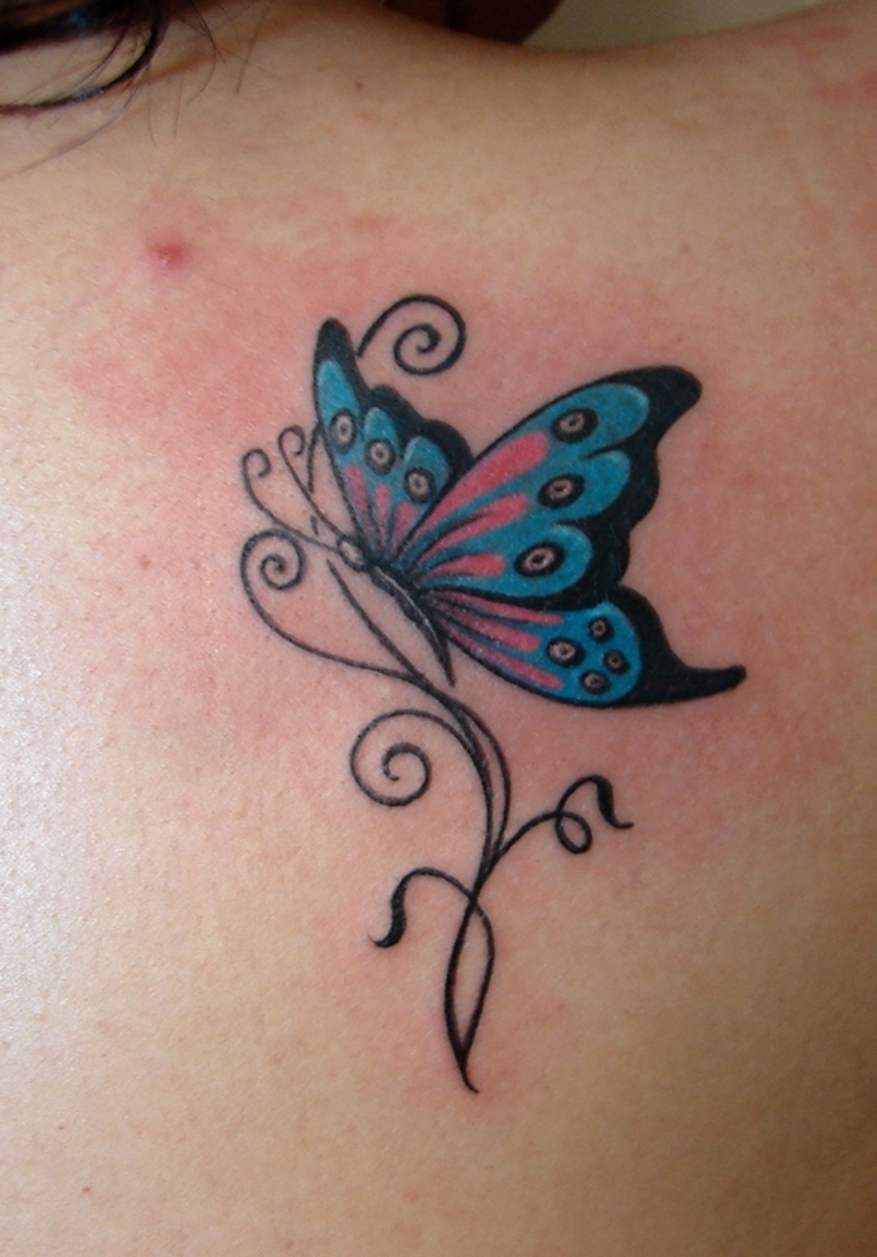 butterfly tattoo free tattoo pictures. Black Bedroom Furniture Sets. Home Design Ideas