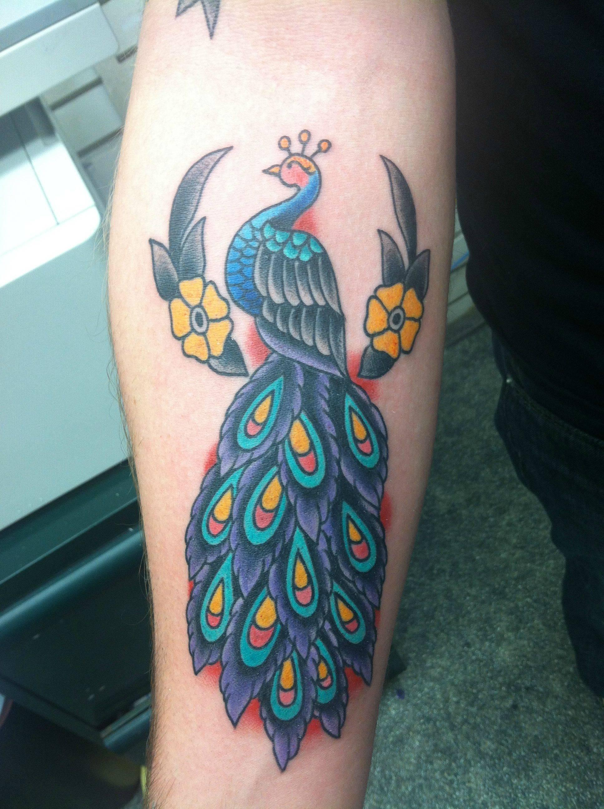 Eagle Back Tattoo Peacock Tattoos Design...