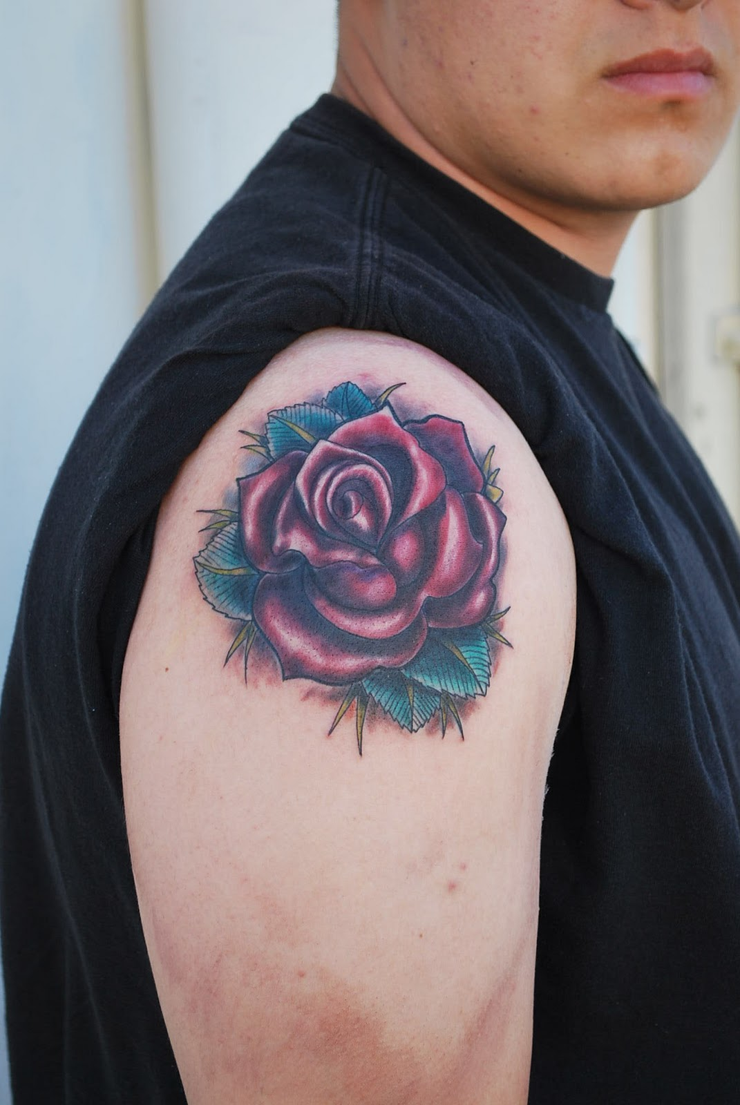 Rose Tattoos on Shoulder Tattoos For Women