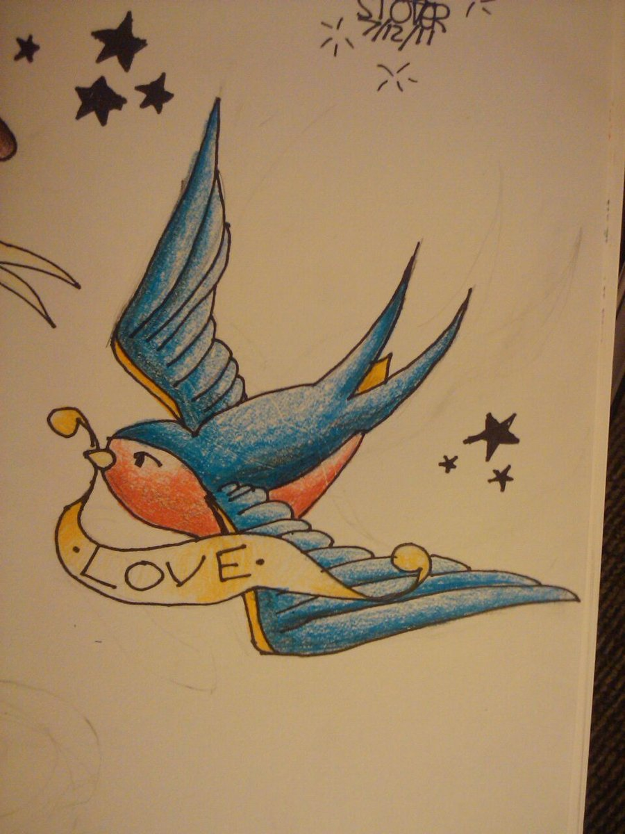bird wrist tattoos with color