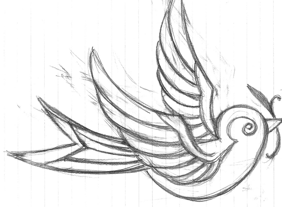 Line Drawing Name Designs : Swallow tattoos designs ideas and meaning for you