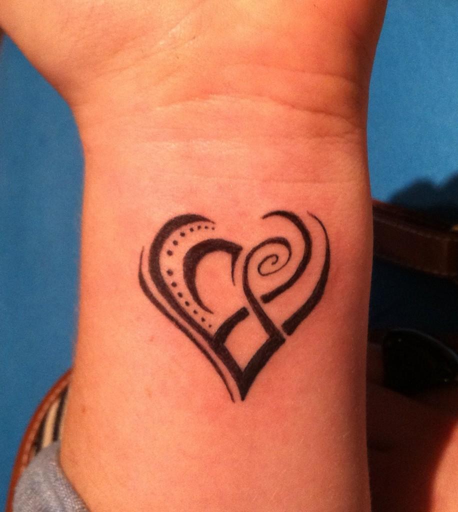 Simple Heart Infinity Tattoo