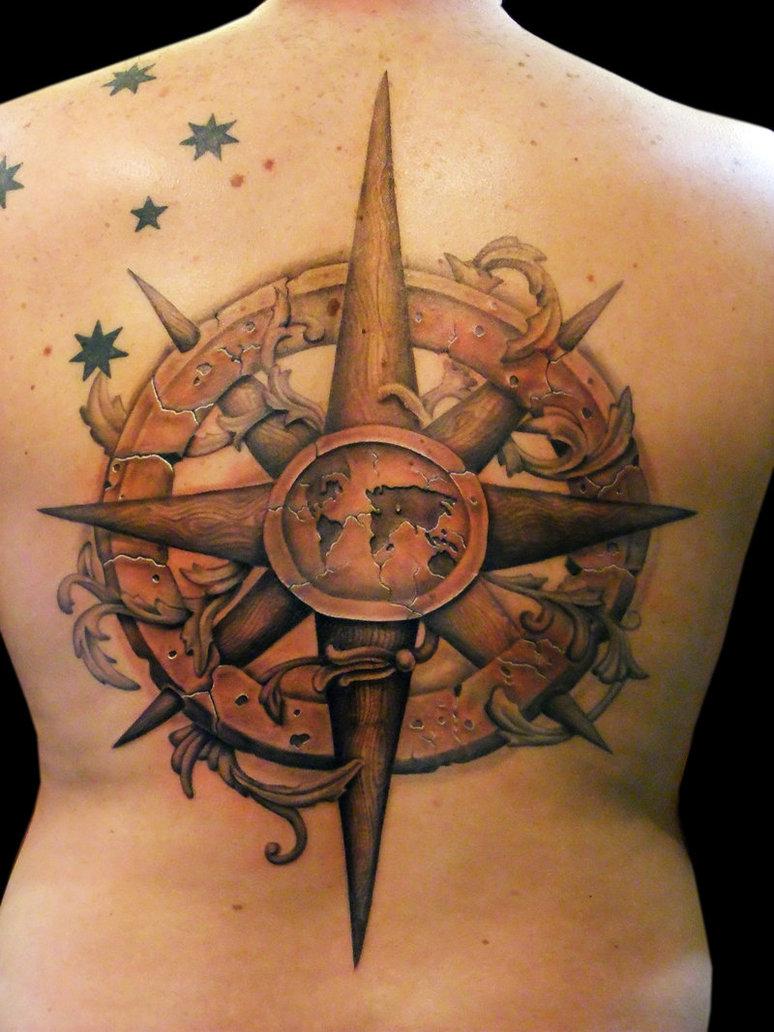 Tatuaje Rosa De Los Vientos Y Ancla Tattoo Art