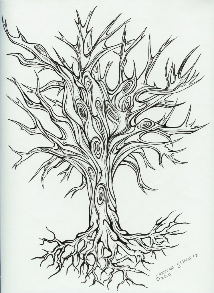 Line Art Meaning : Tree tattoos designs ideas and meaning for you