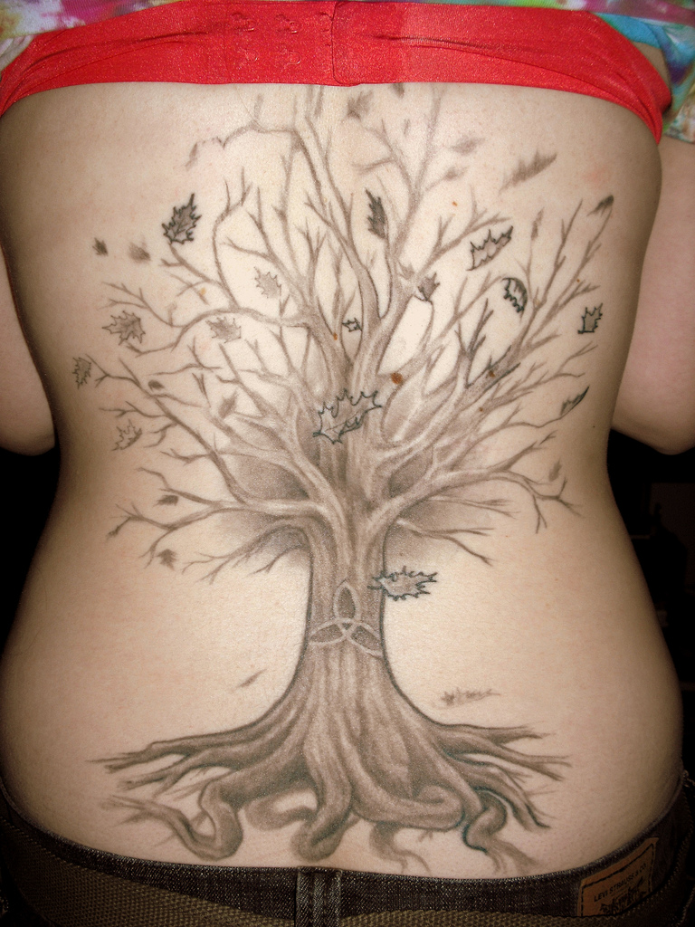 tree tattoos designs ideas and meaning tattoos for you. Black Bedroom Furniture Sets. Home Design Ideas
