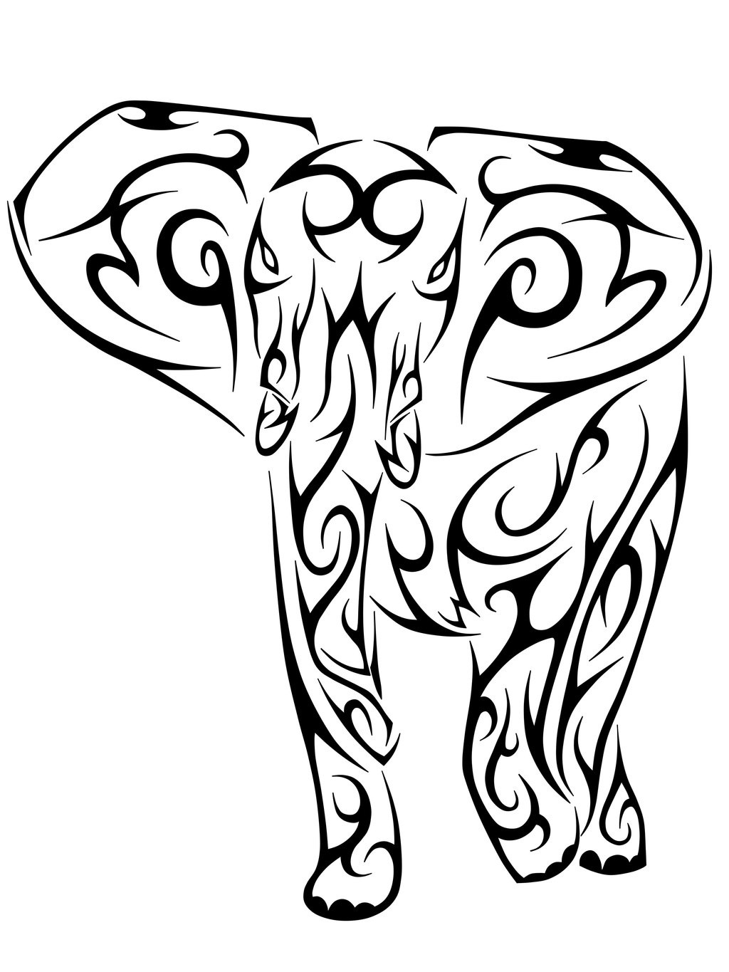 Tribal elephant tattoo designs - photo#7