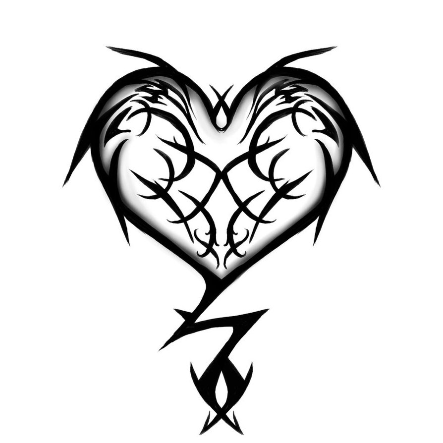Heart tattoos designs ideas and meaning tattoos for you for Women s tribal tattoos designs