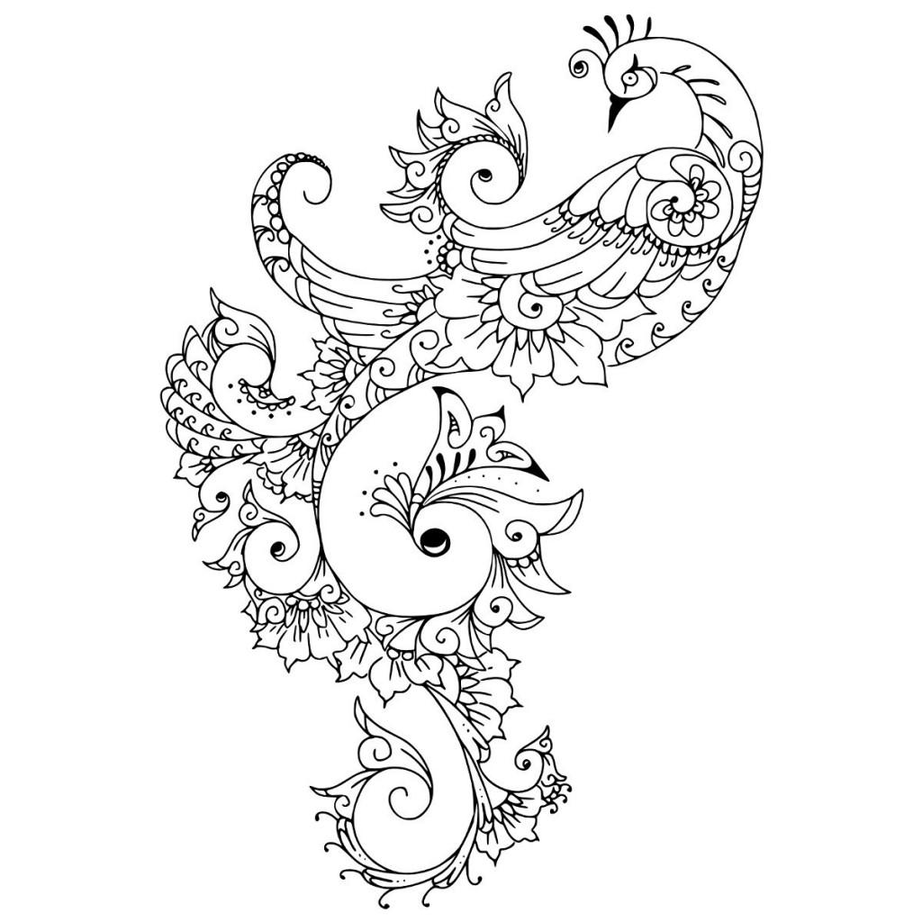 Peacock Tattoo Designs Black And White Pin white peacock tattoo ...
