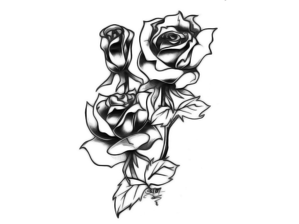 Rose tattoos designs ideas and meaning tattoos for you for Tribal rose tattoo designs