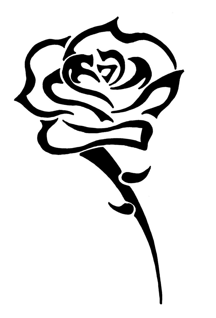 Rose tattoos designs ideas and meaning tattoos for you for Tribal tattoos designs