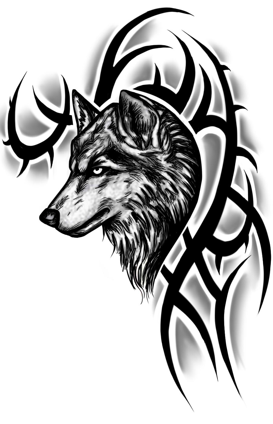 Wolf tattoos designs ideas and meaning tattoos for you for Images of tribal tattoos