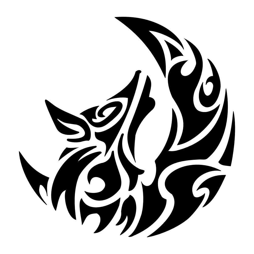 Wolf tattoos designs ideas and meaning tattoos for you for Tattoo style logo design